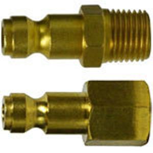 Parker Interchange Tru- Flate Male & Female Brass Plugs