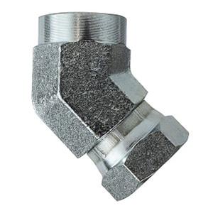 1/2 in. Female NPT x 1/2 in. Female NPSM Steel Female 45 Degree Union Elbow Swivel Hydraulic Adapter