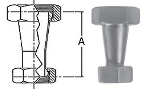 2-1/2 in. x 2 in. 31-14F Concentric Taper Reducer (3A) 304 Stainless Steel Sanitary Fitting