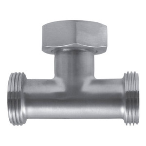 1-1/2 in. 7A Tee With Hex Nut (3A) 304 Stainless Steel Sanitary Fitting