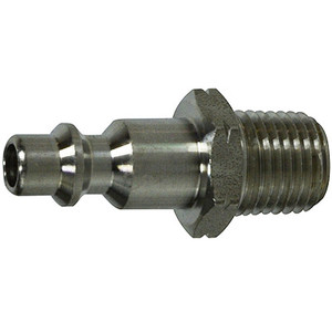 1/4 in. Male Plug, Stainless Steel, Universal Series,1/4 Industrial Interchange, Pneumatic Fittings