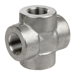 1 in. Threaded NPT Cross 304/304L 3000LB Stainless Steel Pipe Fitting