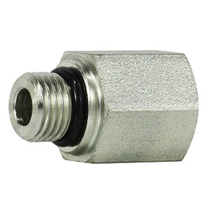 7/16-20 MORB x 1/8 in. FNPT Steel O-Ring to Female Pipe Adapter