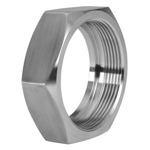 1 in. Union Hex Nut - 13H - 304 Stainless Steel Sanitary Bevel Seat Fitting View 1