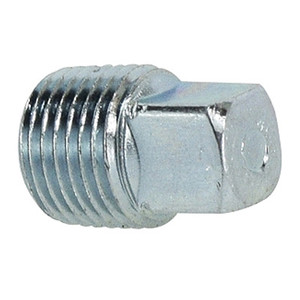 1/8 in. Square Head Plug Steel Pipe Fitting Hydraulic Adapter