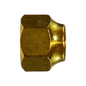 3/16 in. UNF Threaded Short Forged Nut, SAE# 010166, SAE 45 Degree Flare Brass Fitting