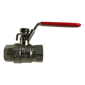 1 in. Nickel Plated, Stainless Steel Trim, Full Port Ball Valve, Locking Handle, 600 WOG, 150 PSI WSP, Workhorse Ball Valve Has Everything