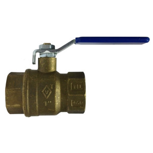 1/2 in. 600 WOG, Full Port, Italian Lead Free Forged Brass Ball Valve, FIP x FIP, CSA AGA