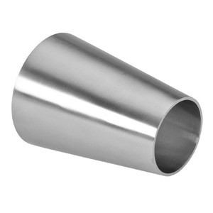 """1-1/2"""" x 1"""" Polished Concentric Weld Reducer (31W) 304 Stainless Steel Butt Weld Sanitary Fitting (3-A)"""