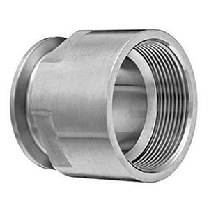 1 in. x 3/4 in. Clamp x Female NPT Adapter (22MP) 316L Stainless Steel Sanitary Clamp Fitting