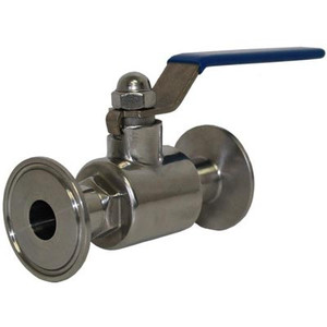 1.5 in. Tri-Clamp by 3/4 in. Ball Valve, 304 Stainless Steel