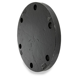6 in. 125# Cast Iron Black Blind Hydrant Pipe Flange