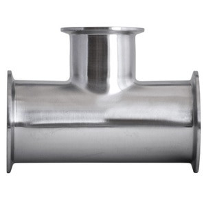 3 in. x 2 in. Clamp Reducing Tee - 7RMP - 316L Stainless Steel Sanitary Fitting (3-A)