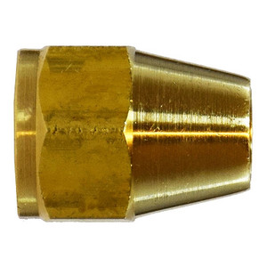7/16 UNF x 11/16-16 Short Rod Nut, SAE 010110, SAE 45 Degree Flare Brass Fitting