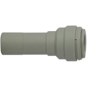 3/8 in. Tube OD x 1/4 in. Tube OD Plastic Stem x Push In Reducer, Polypropylene Push In Tube Fitting