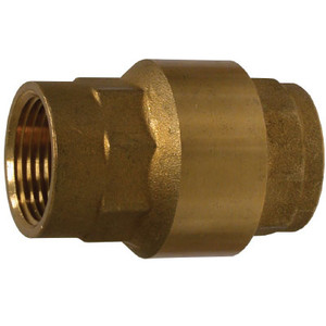 3/8 in. Brass In-Line Check Valve, High Capacity, 400 PSI, FNPT x FNPT, NBR Seal