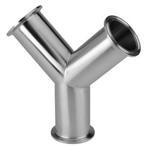 4 in. Clamp True Y (28BMP) 316L Stainless Steel Sanitary Fitting (3-A) View 1