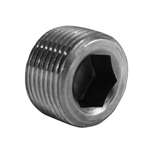 1/16 in. Countersunk Hex Socket Plug, NPT Threaded, Class 150#, Barstock 316 Stainless Steel Pipe Fitting