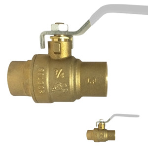 3/4 in. 600 PSI WOG, Lead Free Brass Ball Valve, Full Port, SWT x SWT, AB-1953, Approvals: FM, cUPC, NSF, ANSI 61, ANSI 372