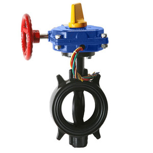 2-1/2 in. HPW Ductile Iron Wafer 300 PSI Butterfly Valve with Tamper Switch UL/FM Approved