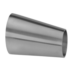 2 in. x 1 in. Unpolished Eccentric Weld Reducer (32W-UNPOL) 304 Stainless Steel Tube OD Fitting