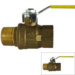 1 in. 600 WOG, MxF Italian Full Port Brass Ball Valves, Forged Brass