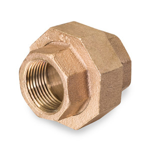 2 in. Threaded NPT Union, 125 PSI, Lead Free Brass Pipe Fitting