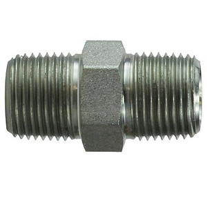1/8 in. x 1/8 in. Hex Nipple Steel Pipe Fitting