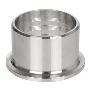 1 in. Roll-On Ferrule (14RMP) 304 Stainless Steel Sanitary Clamp Fitting (3A)