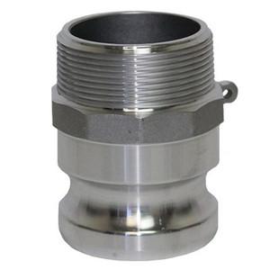 1 in. Type F Adapter Aluminum Male Adapter x Male NPT Thread, Cam & Groove/Camlock Fitting