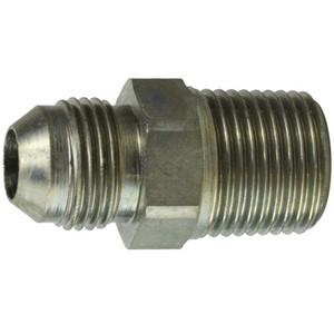 7/16-20 JIC x 1/8-28 BSPT Male Connector Steel Hydraulic Adapter
