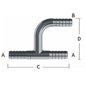 1/4 in. Y-Tee 303/304 Combination Stainless Steel Beverage Fitting