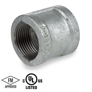 1/2 in. Galvanized Pipe Fitting 150# Malleable Iron Threaded Right and Left Coupling, UL/FM
