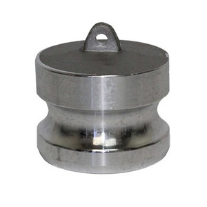1/2 in. Type DP Dust Plug Aluminum Male End Adapter, Cam & Groove/Camlock Fitting
