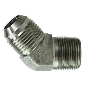 5/16-24 JIC x 1/8 in. Male Pipe Steel JIC 45 Degree Male Elbow Hydraulic Adapter & Fitting