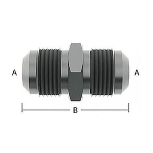 Male Flare Adapter For Beer Nut - A=7/8 in.-14 (5/8 in. BSP) Male Flare, B=1.86 in. (47.2mm) Length