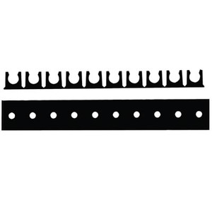 1/4 in. Tube OD Mounting Rack, Non-adhesive, 10 Channels, Color Black, Tube Supports & Racks
