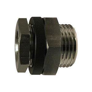 1/8 in. FIP Bulkhead Coupling, 1450-2175 PSI, NPT Threaded, 316L Stainless Steel