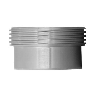 1-1/2 in. 15R Threaded Recessless Ferrule (3A) (For Expanding) 304 Stainless Steel Bevel Seat Sanitary Fitting