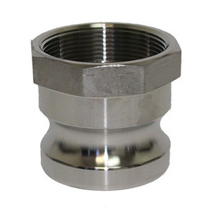 1-1/4 in. Type A Adapter 316 Stainless Steel Camlock Fitting Male Adapter x Female NPT Thread