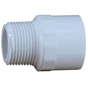 1/2 in. PVC Slip x MIP Adapter, PVC Schedule 40 Pipe Fitting, NSF 61 Certified