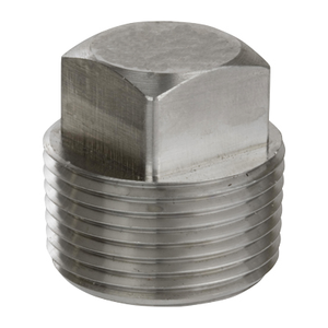 1/4 in. Threaded NPT Square Head Plug 304/304L 3000LB Stainless Steel Pipe Fitting