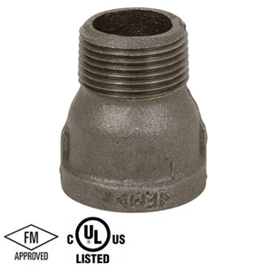 3/8 in. Black Pipe Fitting 150# Malleable Iron Threaded Extension Piece, UL/FM