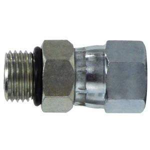 1-7/8-12 MOR x MJIC O-Ring to 37 Degree JIC Steel Swivel Hydraulic Adapter