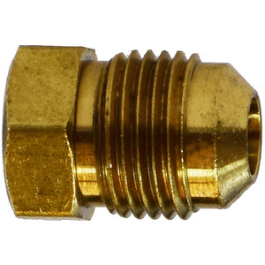 5/8 in. UNF Threaded Flare Plug, SAE 45 Degree Flare Brass Fitting
