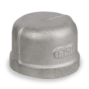1/2 in. Cap - NPT Threaded 150# Cast 304 Stainless Steel Pipe Fitting
