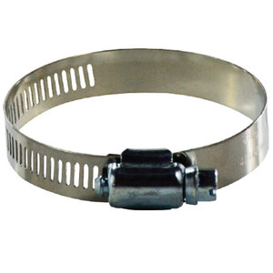 #6 Worm Gear Clamp, 316 Stainless Steel, 1/2 in. Wide Band Clamps, 600 Series