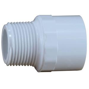 1-1/2 in. PVC Slip x MIP Adapter, PVC Schedule 40 Pipe Fitting, NSF 61 Certified