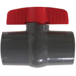 1/2 in. Slip x Slip, Grey Socket PVC Ball Valve, Leak-Tight Shut-Off, Schedule 80