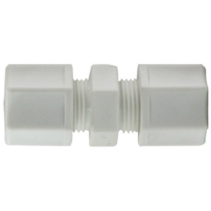 1/2 in. x 3/8 in. Polypropylene Compression Reducing Union Connector, FDA & NSF Listed